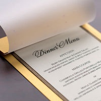 "Champagne Cream Metallic Backing Card 107#, 5"" x 7"" - Paperandmore.com"