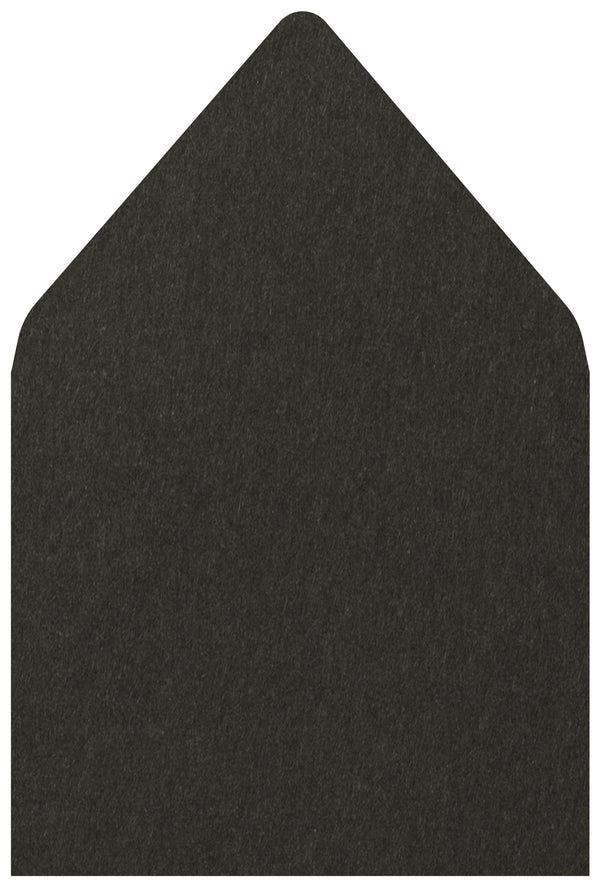 A-7.5 Black Solid - Euro Flap Envelope Liner
