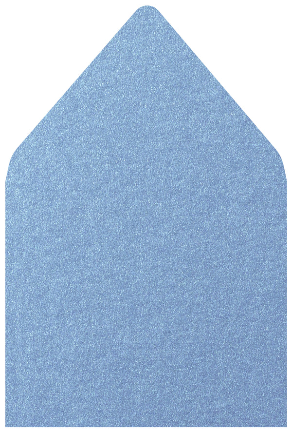A-7.5 Blue Vista Metallic - Euro Flap Envelope Liner