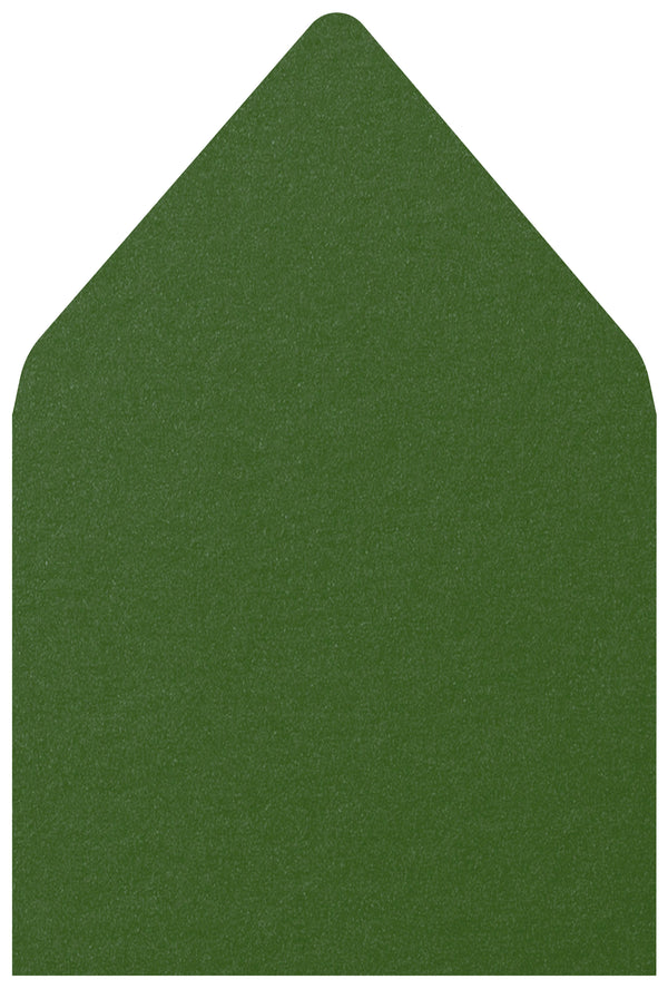 A-7.5 Botanic Green Metallic - Euro Flap Envelope Liner
