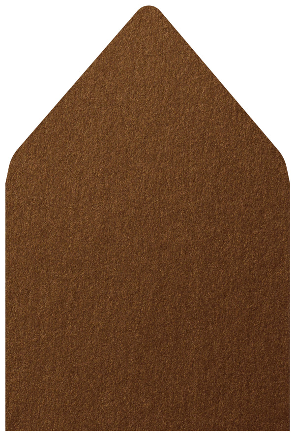 A-7.5 Bronze Brown Metallic - Euro Flap Envelope Liner