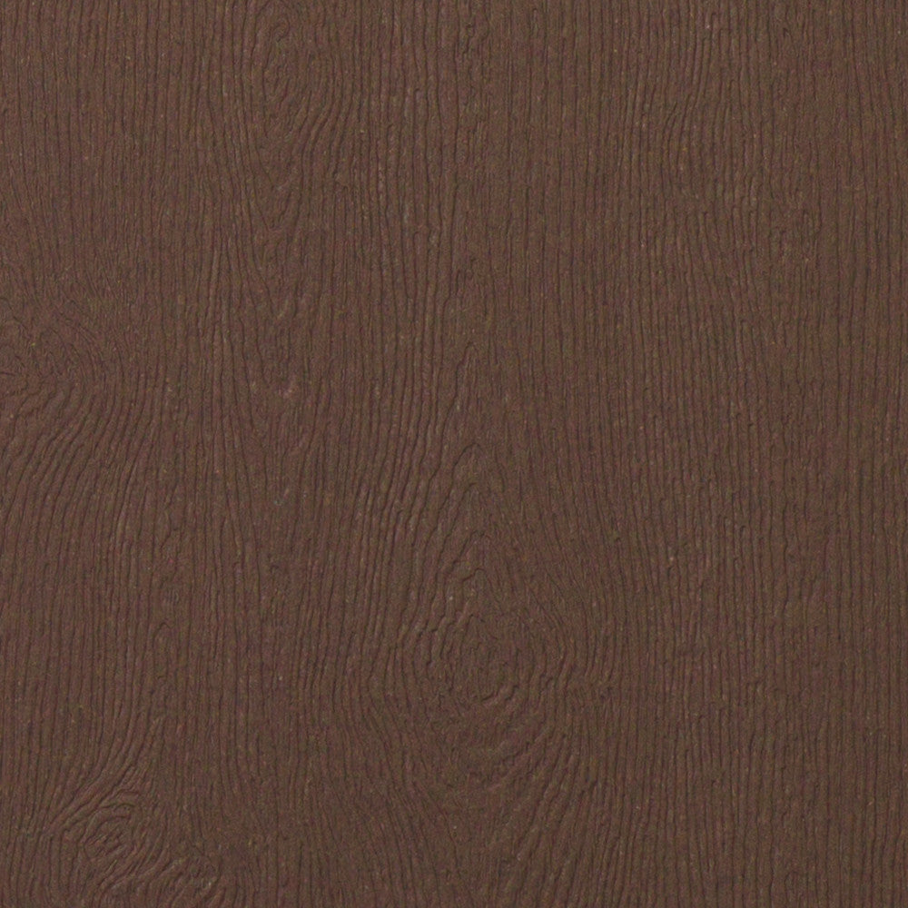 Bubinga Brown Embossed Wood Grain Monogram Squares - 2 1/4""