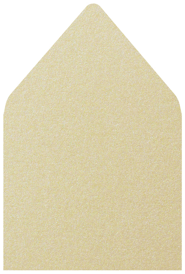 A-7.5 Champagne Cream Metallic - Euro Flap Envelope Liner