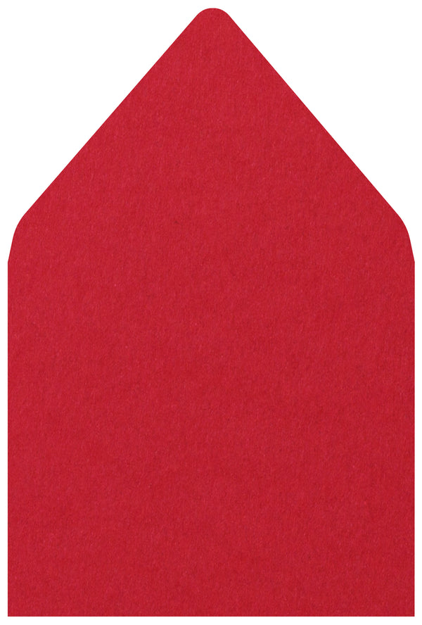 A-7.5 Cherry Red Solid - Euro Flap Envelope Liner