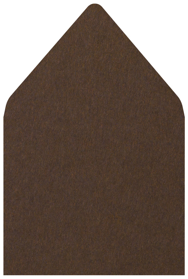 A-7 Chocolate Brown Solid - Euro Flap Envelope Liner
