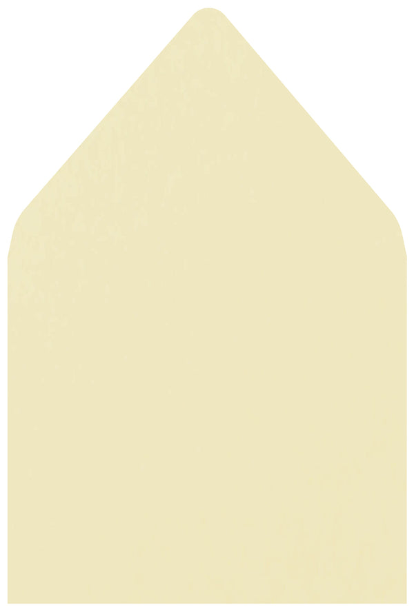 A-7 Classic Natural Cream Solid - Euro Flap Envelope Liner