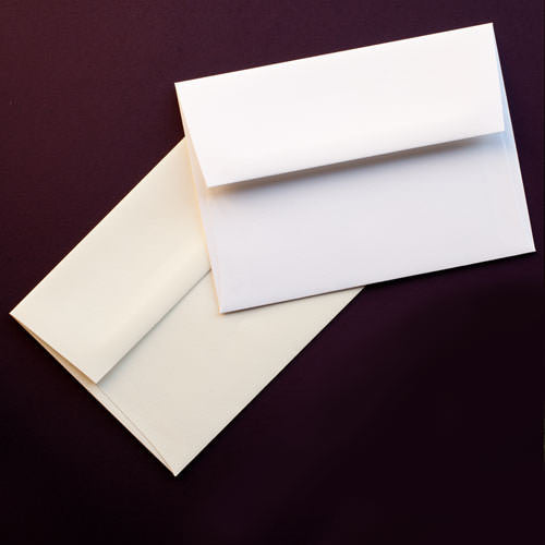 "A-2 Bright White Cotton Envelopes (4 3/8"" x 5 3/4"") - Paperandmore.com"