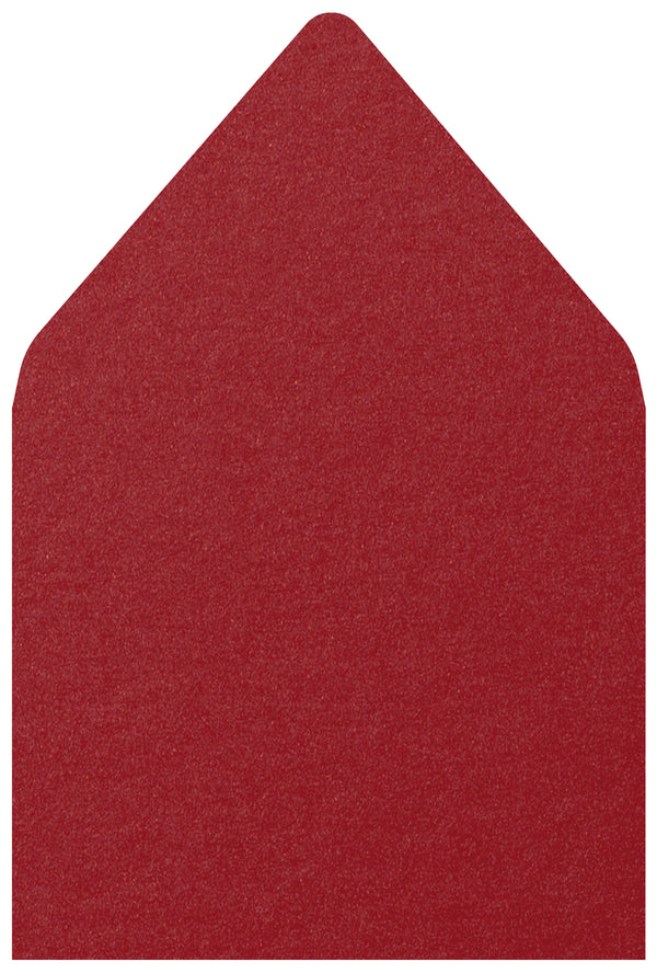A-7.5 Crimson Red Metallic - Euro Flap Envelope Liner
