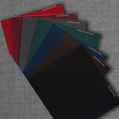 "A-9 Dark Brown Linen Envelopes (5 3/4"" x 8 3/4"") - Paperandmore.com"