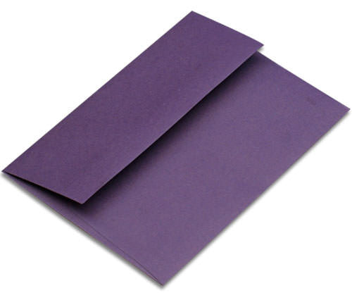 "A-2 Dark Purple Solid Envelopes (4 3/8"" x 5 3/4"") - Paperandmore.com"