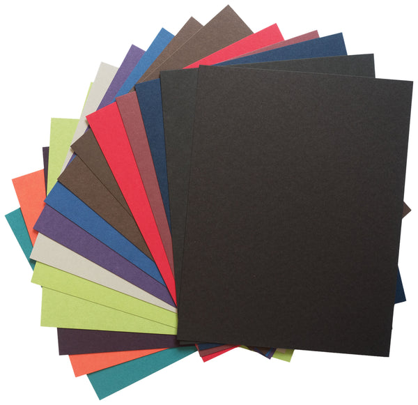 Solid Dark Card Stock Sampler Pack - Paperandmore.com