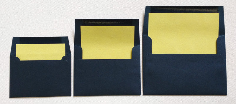 A-2 Dark Blue Metallic - Square Flap Envelope Liner