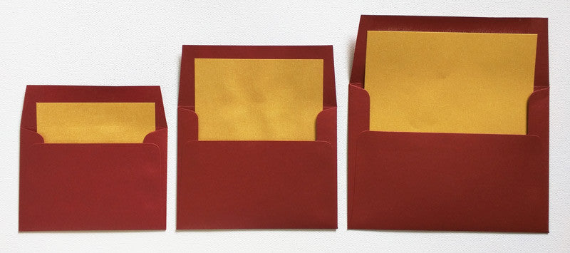 A-2 Cherry Red Solid - Square Flap Envelope Liner