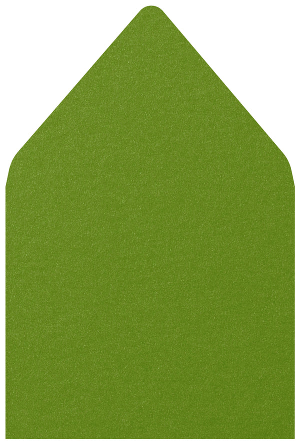 A-7.5 Green Fairway Metallic - Euro Flap Envelope Liner