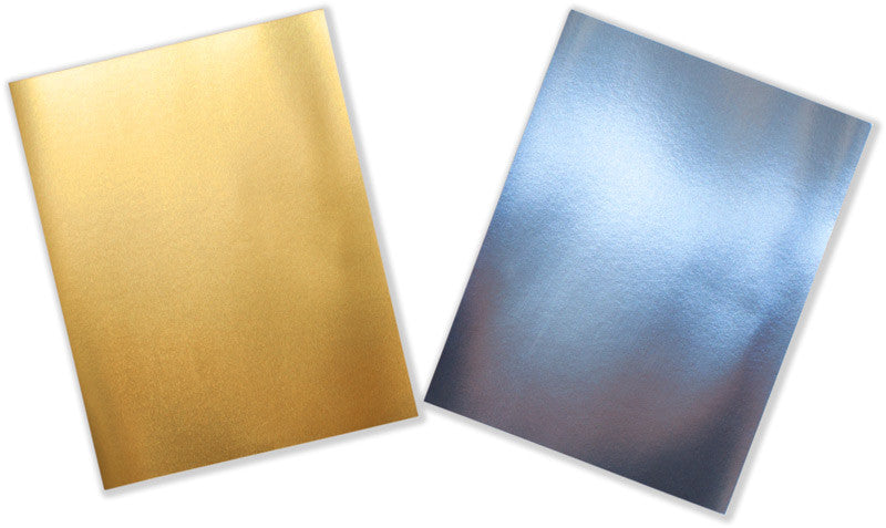 "Bright Gold Foil 90# Card Stock, 8 1/2"" x 11"""