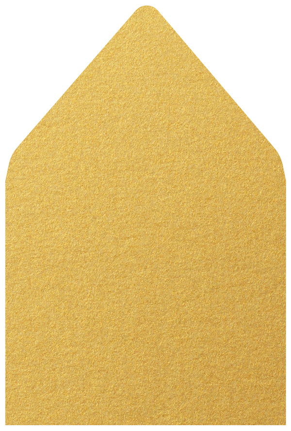 A-7.5 Gold Metallic - Euro Flap Envelope Liner