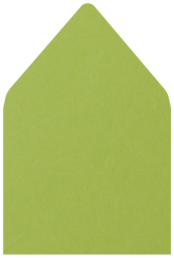 A-7.5 Green Apple Solid - Euro Flap Envelope Liner