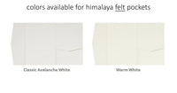 A7 Himalaya Pocket Invitation Complete DIY Kit - Sets of 25 Blank (non-printed) - Paperandmore.com