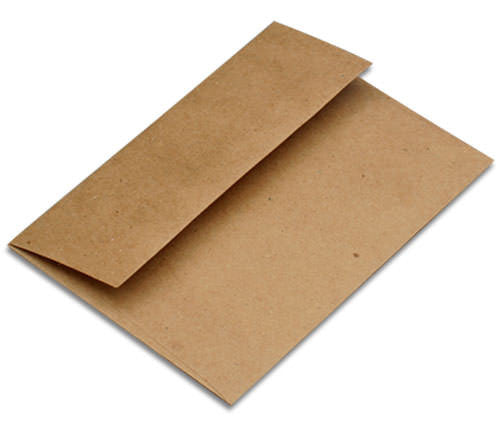 "5 1/2"" Square Kraft Brown Recycled Envelopes (5 1/2"" x 5 1/2"") - Paperandmore.com"