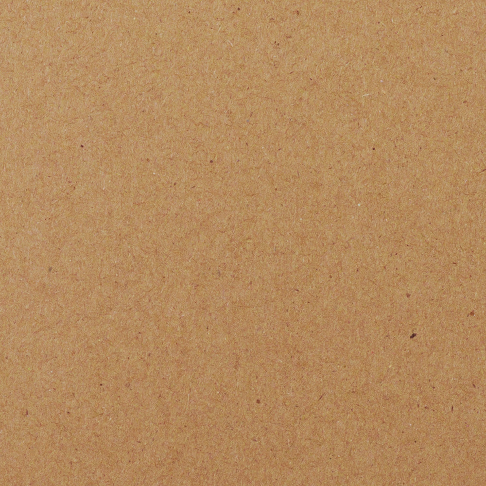 "Brown Kraft Recycled Card Stock 65#, 12"" x 12"""
