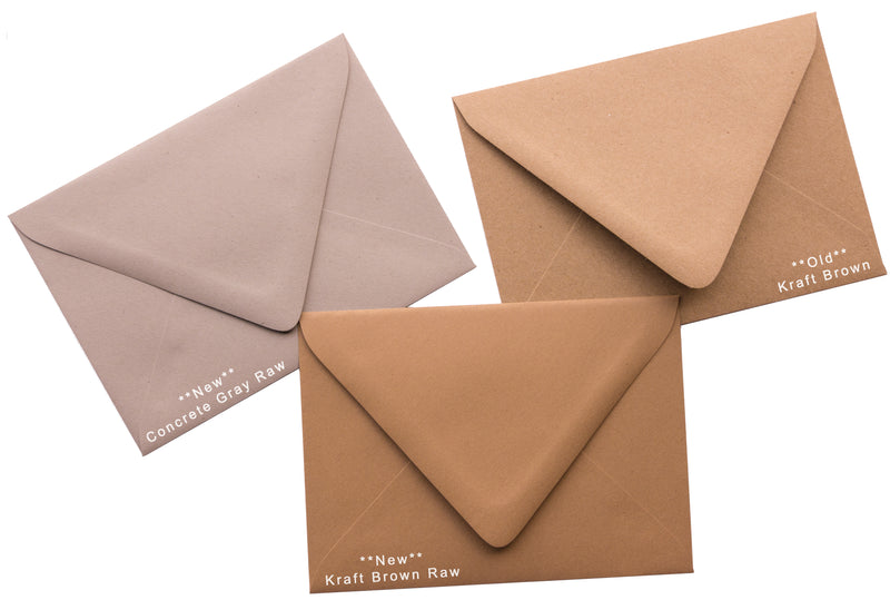"#10 Concrete Gray Kraft Raw Recycled Envelopes (4 1/8"" x 9 1/2"") - Paperandmore.com"