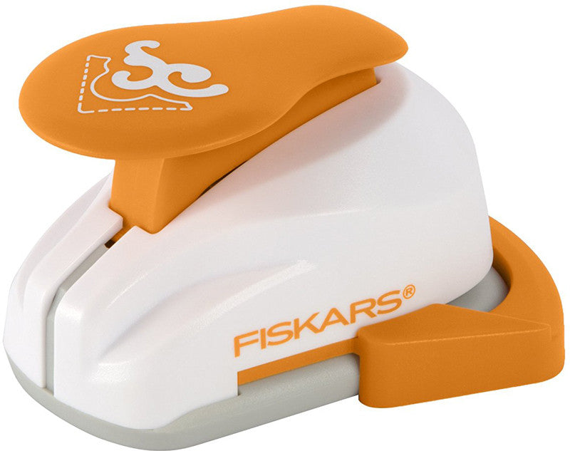 Fiskars Corner Lever Punch - Scroll - Paperandmore.com