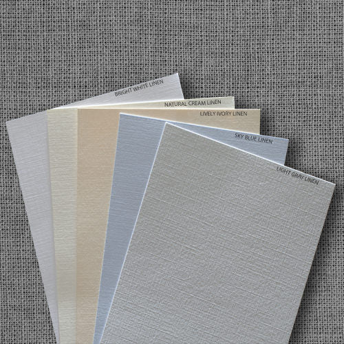 Natural Cream Linen Invitation Card, A7 Folded - Paperandmore.com
