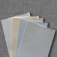 Natural Cream Linen Invitation Card, 4 Bar Folded - Paperandmore.com