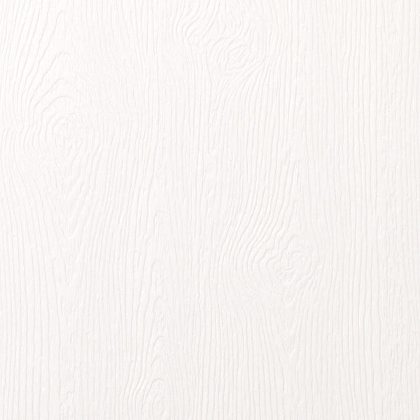 "Limba White Embossed Wood Grain Monogram Squares - 2 1/4"" - Paperandmore.com"