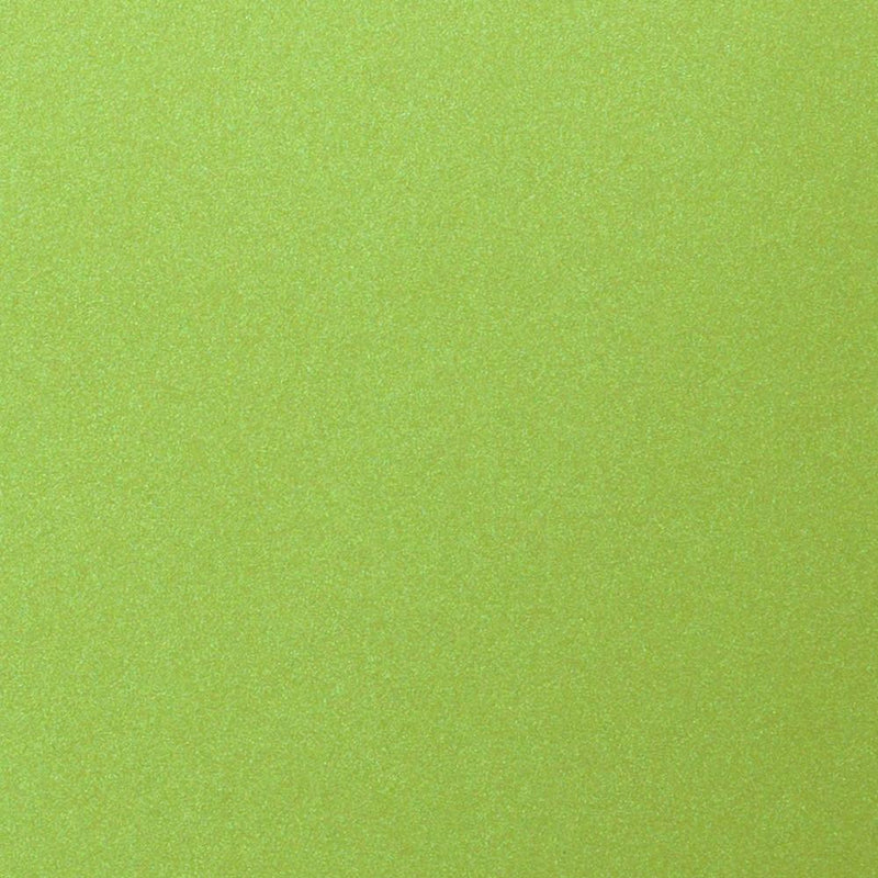 Lime Green Satin Metallic Card Stock 92#, A9 Flat Card - Paperandmore.com