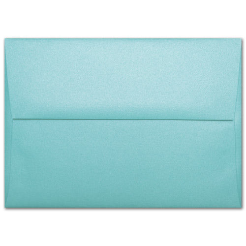 "A-6 Aqua Lagoon Metallic Envelopes (4 3/4"" x 6 1/2"") - Paperandmore.com"