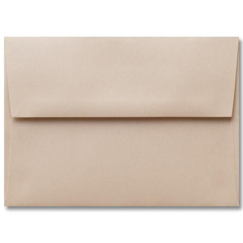 "Outer A-7.5 Beige Sand Metallic Square Flap Envelopes (5 1/2"" x 7 1/2"") - Paperandmore.com"