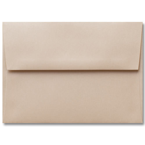 "A-2 Beige Sand Metallic Envelopes (4 3/8"" x 5 3/4"") - Paperandmore.com"