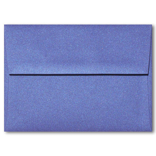 "A-6 Blueprint Blue Metallic Envelopes (4 3/4"" x 6 1/2"") - Paperandmore.com"