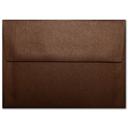 "A-8 Bronze Brown Metallic Envelopes (5 1/2"" x 8 1/8"") - Paperandmore.com"