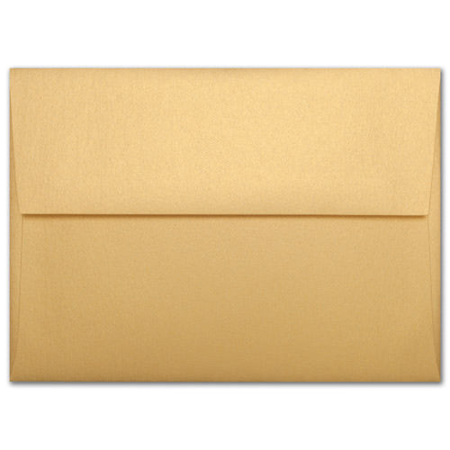 "A-8 Gold Metallic Envelopes (5 1/2"" x 8 1/8"") - Paperandmore.com"