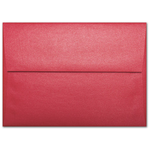 "A-1 (4 Bar) Jupiter Red Metallic Envelopes (3 5/8"" x 5 1/8"") - Paperandmore.com"