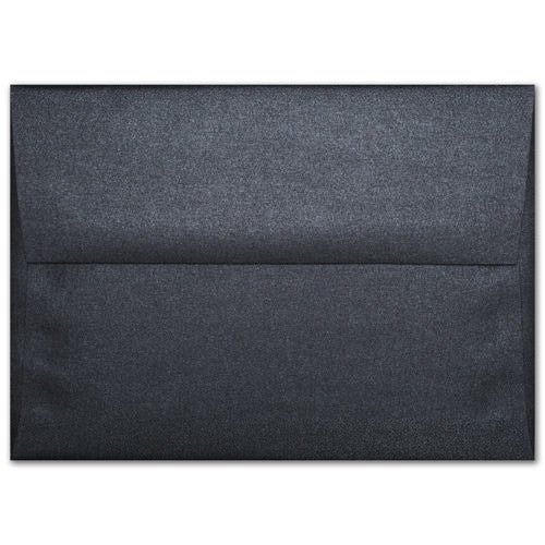 "A-1 (4 Bar) Onyx Black Metallic Envelopes (3 5/8"" x 5 1/8"") - Paperandmore.com"