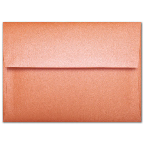 A-1 (4 Bar) Orange Flame Metallic Envelopes (3 5/8