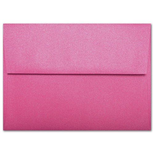 "A-7 Pink Azalea Metallic Envelopes (5 1/4"" x 7 1/4"") - Paperandmore.com"
