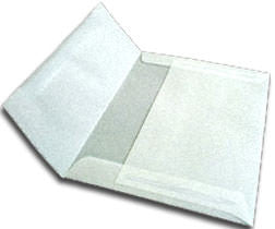 "5 1/2"" Square Metallic Platinum Translucent Vellum Envelopes (5 1/2"" x 5 1/2"") - Paperandmore.com"