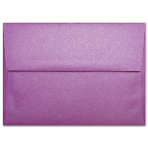 "A-9 Purple Punch Metallic Envelopes (5 3/4"" x 8 3/4"") - Paperandmore.com"