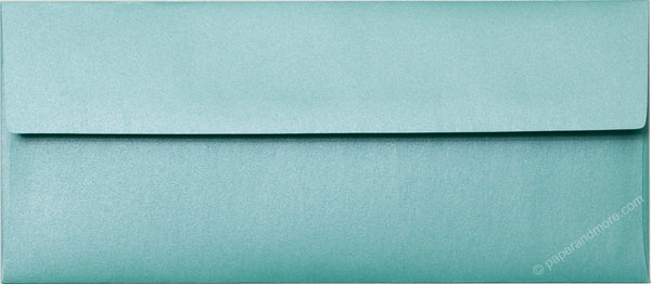 "#10 Aqua Lagoon Metallic Envelopes (4 1/8"" x 9 1/2"") - Paperandmore.com"