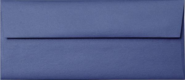 "#10 Blueprint Blue Metallic Envelopes (4 1/8"" x 9 1/2"") - Paperandmore.com"