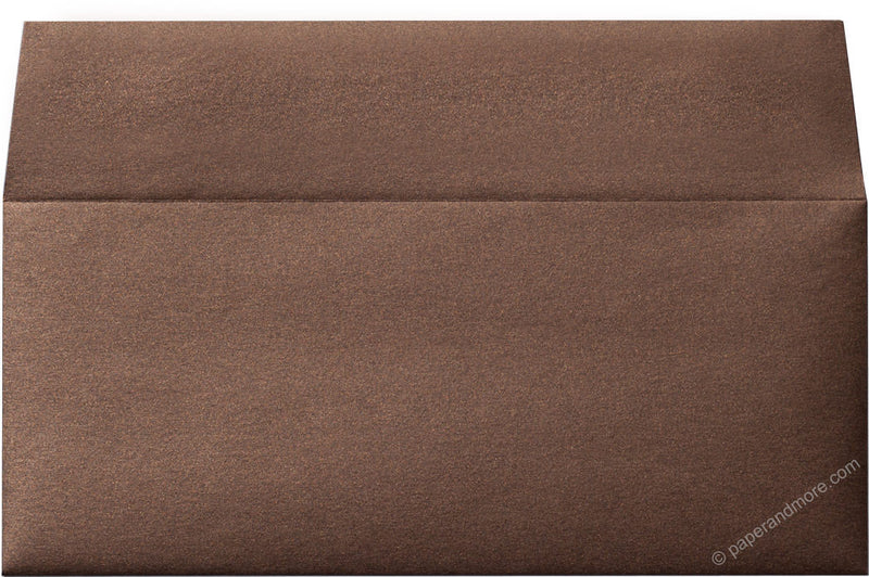 "#10 Bronze Brown Metallic Envelopes (4 1/8"" x 9 1/2"") - Paperandmore.com"
