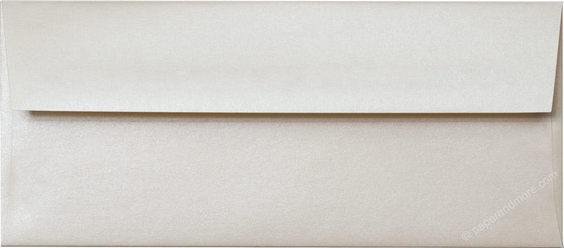 "#10 Champagne Cream Metallic Envelopes (4 1/8"" x 9 1/2"") - Paperandmore.com"