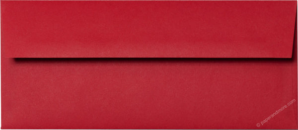 "#10 Cherry Red Solid Envelopes (4 1/8"" x 9 1/2"") - Paperandmore.com"