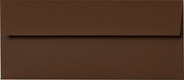 "#10 Chocolate Brown Solid Envelopes (4 1/8"" x 9 1/2"") - Paperandmore.com"