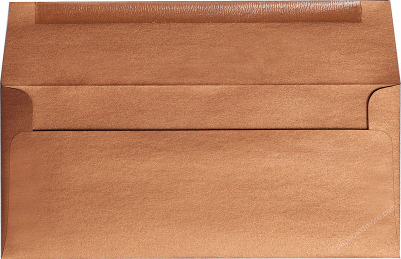 "#10 Copper Metallic Envelopes (4 1/8"" x 9 1/2"") - Paperandmore.com"