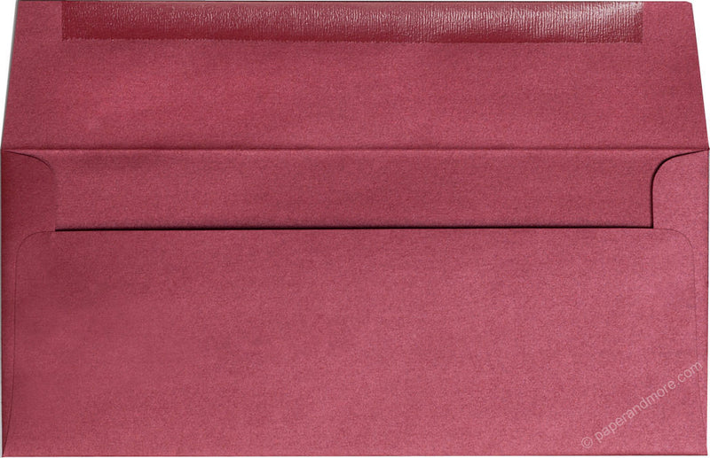 "#10 Crimson Red Metallic Envelopes (4 1/8"" x 9 1/2"") - Paperandmore.com"